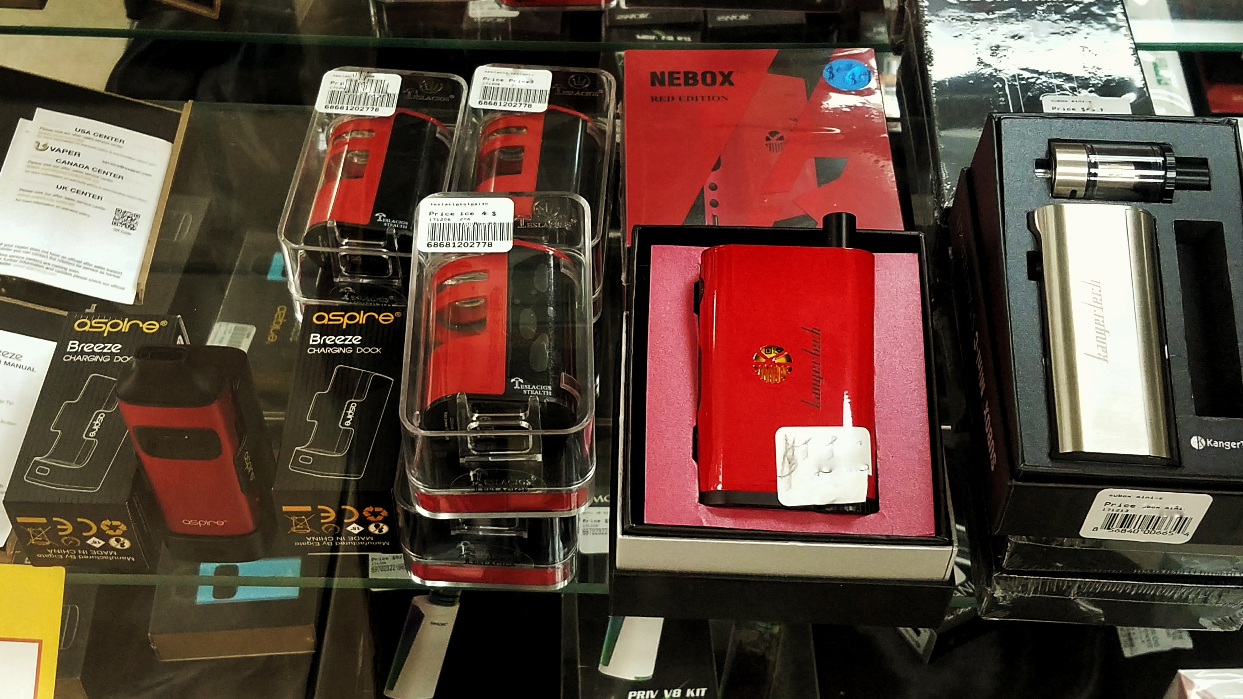 Aspire Vaporizers in Store and More....