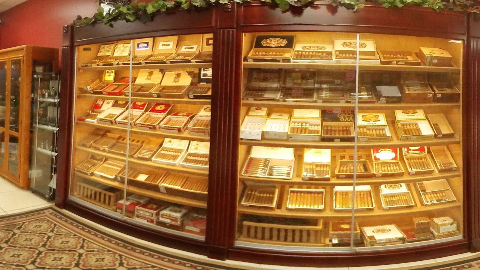 Cigars in Humidor at Royal Palm Beach Store