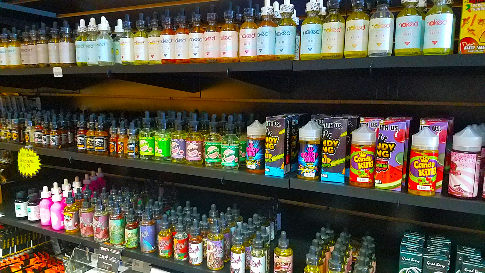 A Large Selection of e-Liquid for Vaping